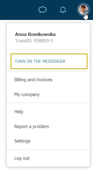 Messenger Platformu Trans.eu